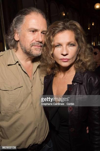 Eva Ionesco and Simon Liberati attend the Simon Bocanegra and Philippe Morillon Exhibition at la Galerie Du passage Pierre Passebon on October 18...