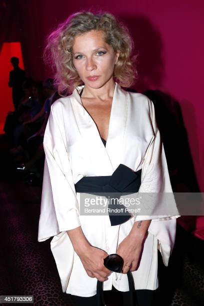 Eva Ionesco attends the Schiaparelli show as part of Paris Fashion Week Haute Couture Fall/Winter 20142015 on July 7 2014 in Paris France