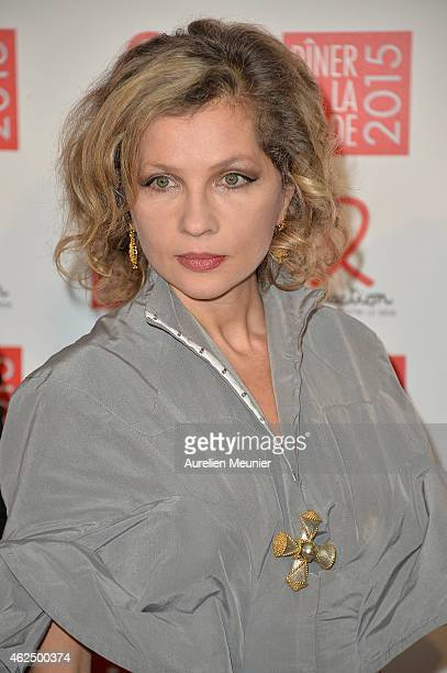 Eva Ionesco attends the Sidaction Gala Dinner 2015 at Pavillon d'Armenonville on January 29 2015 in Paris France