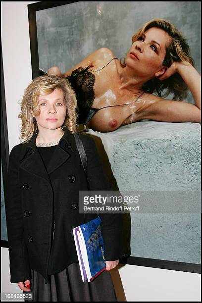 Eva Ionesco in front of his photo at Opening Of The Exhibition Bettina Rheims Heroes In Paris