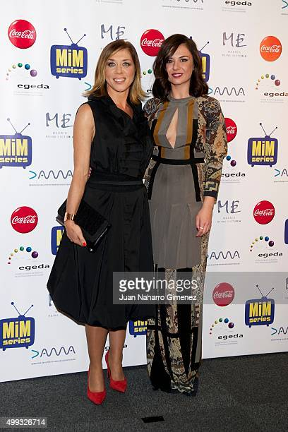 Eva Isanta and Miren Ibarguren attend MIM Awards 2015 at Me Hotel on November 30 2015 in Madrid Spain