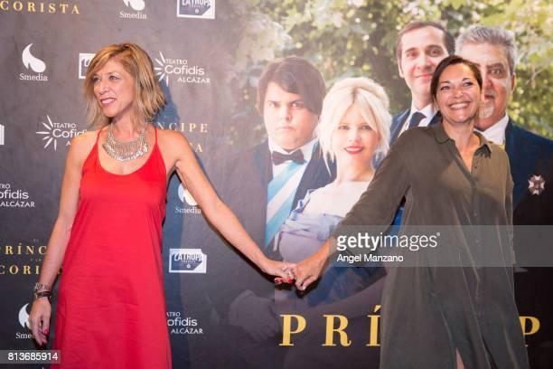 Eva Isanta and Virginia Plaza attend 'El Principe Y La Corista' Madrid Premiere on July 10 2017 in Madrid Spain