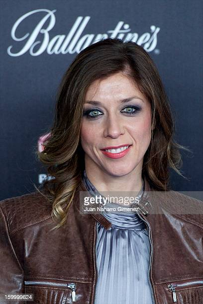 Eva Isanta attends '40 Principales Awards' 2012 photocall at Palacio de los Deportes on January 24 2013 in Madrid Spain
