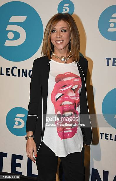 Eva Isanta attends 'La que se avecina' 9th season presentation at TeleCinco studios on April 1 2016 in Madrid Spain
