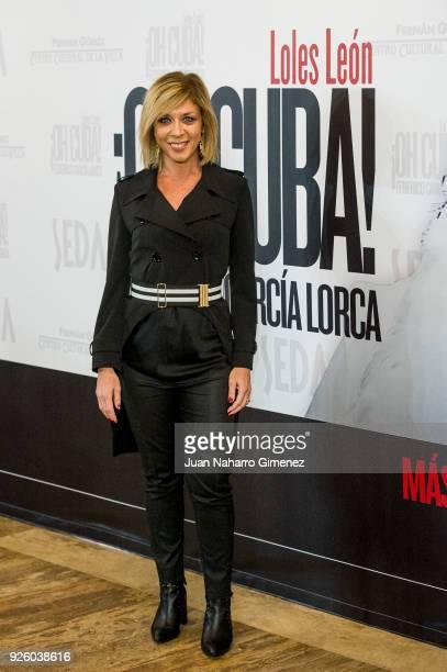 Eva Isanta attends 'ÁOh Cuba' premiere at Fernan Gomez Theater on March 1 2018 in Madrid Spain