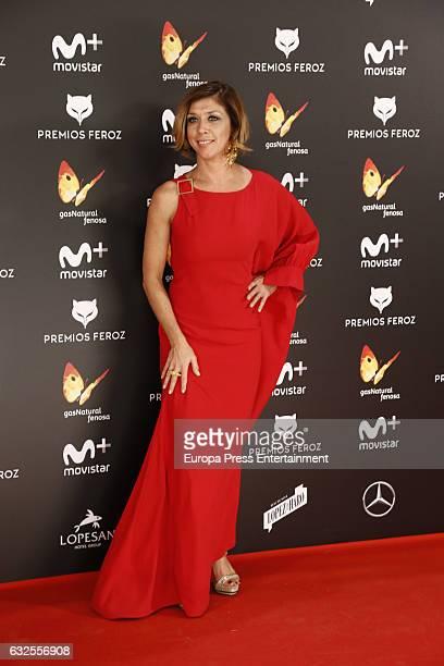 Eva Isanta attends the 2016 Feroz Cinema Awards at Duque de Patrana Palace on January 23 2017 in Madrid Spain