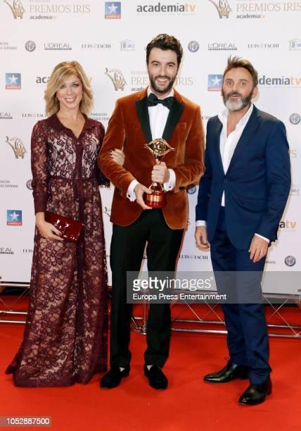 Eva Isanta Javier Rey and Fernando Tejero attend Iris Television Awards Photocall at Kinepolis on October 23 2018 in Madrid Spain