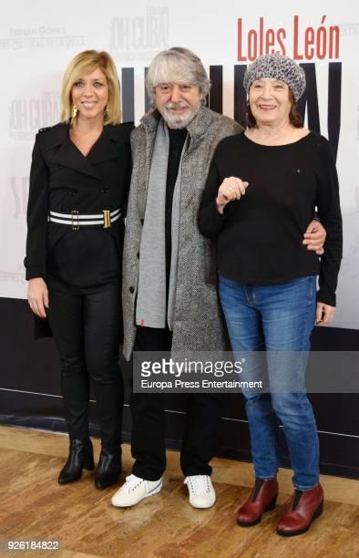 Eva Isanta Ricardo Arroyo and Petra Martinez attend 'Oh Cuba' premiere at Fernan Gomez Theater on March 1 2018 in Madrid Spain