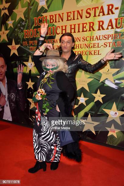 Eva Jacob and Julian F M Stoeckel during the Public Viewing Of the TV Show 'Ich bin ein Star Holt mich hier raus' on January 19 2018 in Berlin Germany