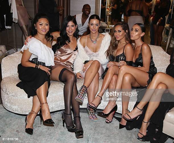 Eva Kim Anielka Mercado Anabelle Acosta Adrienne Bailon and Luba Chervinskyattend Julissa Bermudez's Lingerie Inspired Birthday Party at Naked...