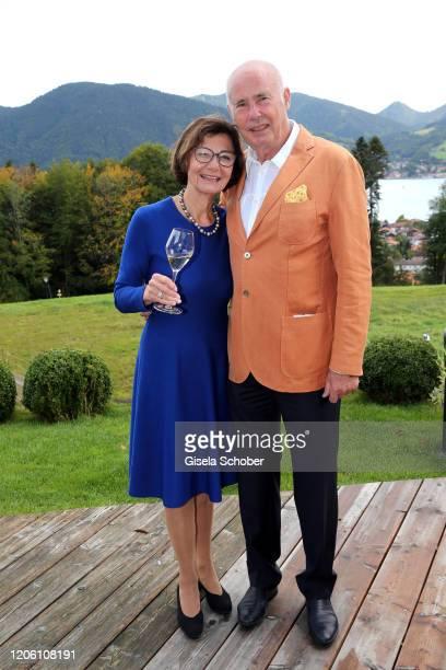 Eva Kinkel and Werner Kinkel during the 50th birthday celebration of author Tanja Kinkel at Freihaus Brenner on September 28 2019 in Bad Wiessee /...