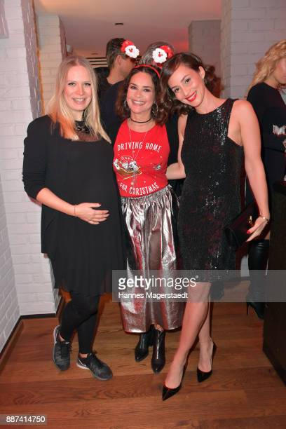 Eva Krsak Gitta Saxx and Heydi NunezGomez during the CONNECTIONS PR XMAS Cocktail at Kaefer Atelier on December 6 2017 in Munich Germany