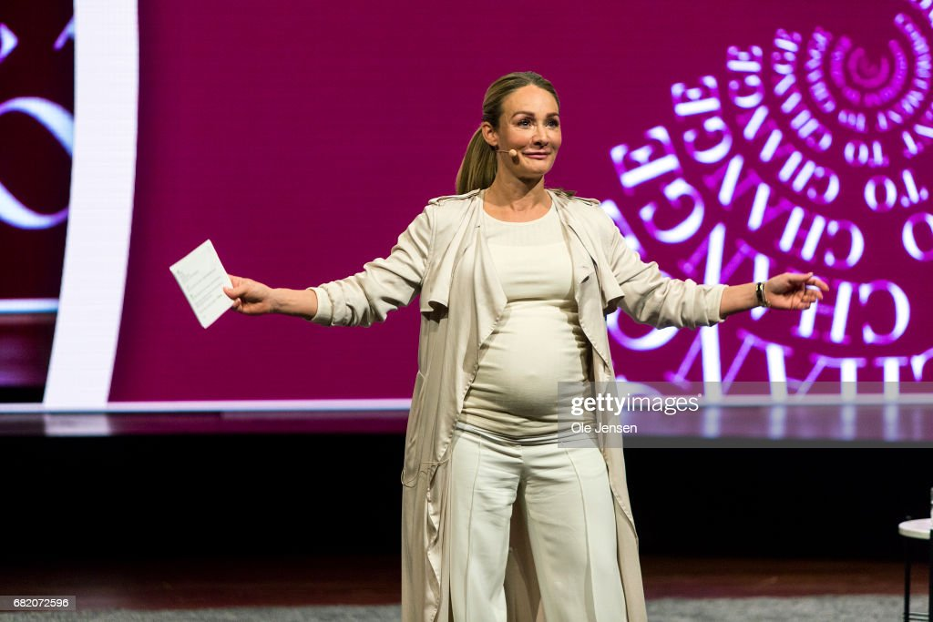 Eva Kruse, Director for the Danish Fashion Institute, speaks on stage at Copenhagen Fashion Summit on May 11, 2017 in Copenhagen, Denmark. The 2017 Summit addressed four specific paths to sustainability: the macro perspective, circular design, supply chain transparency and sustainable consumption. All four paths pertained to topics that are of particular opportunity, as uncovered in the 'Pulse of the Fashion Industry' report, jointly researched and produced by the Global Fashion Agenda and the Boston Consulting Group and presented at the Summit, which had some 1000 participants from the global fashion industry. Also Danish Crown Princess Mary attended the Summit.