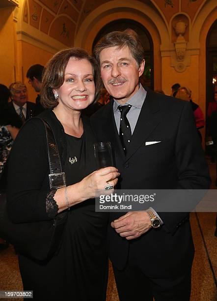 Eva Kummeth and Horst Kummeth attend the Bavarian Movie Awards 2013 after party on January 18, 2013 in Munich, Germany.