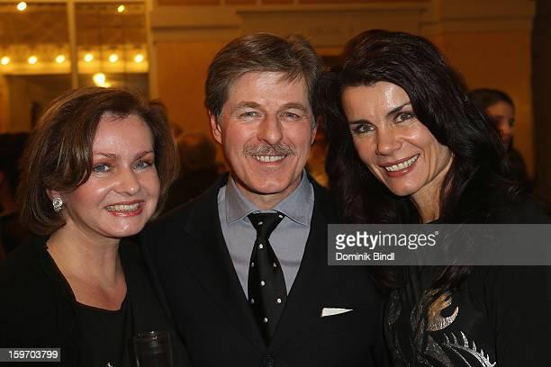 Eva Kummeth, Horst Kummeth and Nicola Tiggeler attend the Bavarian Movie Awards 2013 after party on January 18, 2013 in Munich, Germany.