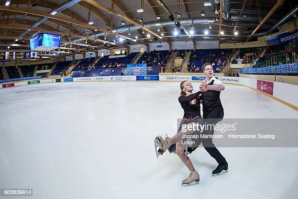 Eva Kuts and Dmitrii Mikhailov of Russia compete during the Junior Ice Dance Free Dance on day one of the ISU Junior Grand Prix of Figure Skating...