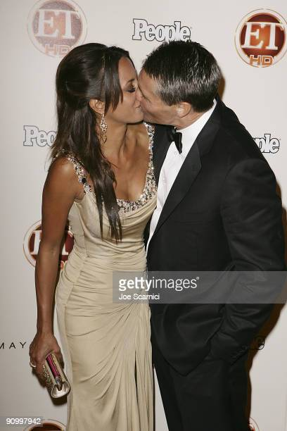 Eva La Rue and date arrives at Vibiana for the 13th Annual Entertainment Tonight and People magazine Emmys After Party on September 20 2009 in Los...