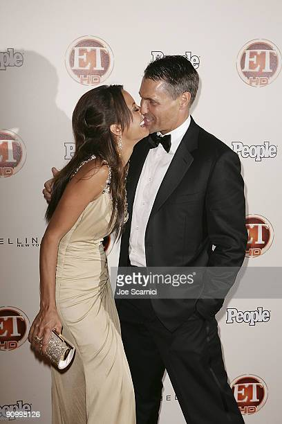 Eva La Rue and date arrives at Vibiana for the 13th Annual Entertainment Tonight and People magazine Emmys After Party on September 20, 2009 in Los...