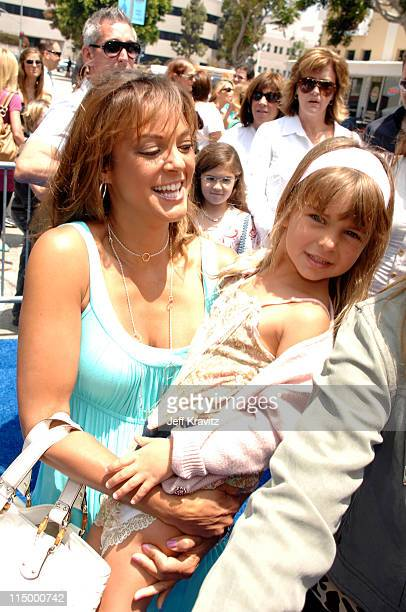 Eva La Rue and daughter during Surf's Up Los Angeles Premiere Red Carpet at Mann Village Theater in Westwood California United States