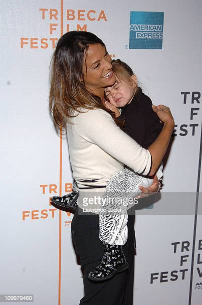 Eva La Rue and daughter Kaya Callahan during 4th Annual Tribeca Film Festival The Muppets' Wizard of Oz Premiere Arrivals at Tribeca Performing Arts...