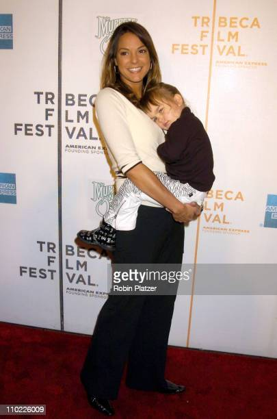 Eva La Rue and daughter Kaya Callahan during 4th Annual Tribeca Film Festival The Muppets' Wizard of Oz Premiere at The Tribeca Performing Arts...