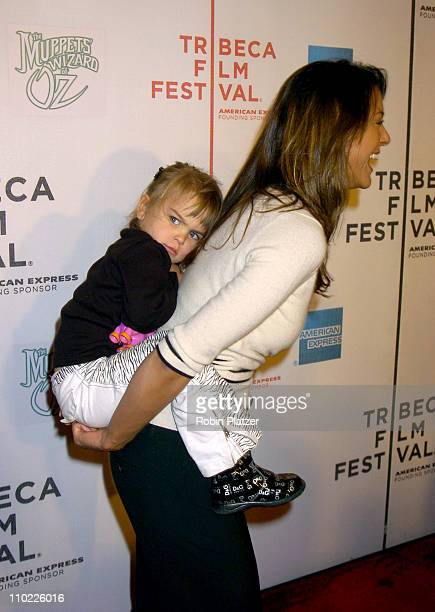 "Eva La Rue and daughter Kaya Callahan during 4th Annual Tribeca Film Festival - ""The Muppets' Wizard of Oz"" Premiere at The Tribeca Performing Arts..."