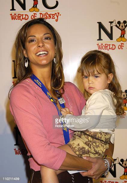 Eva La Rue and daughter Kaya Callahan during Grand Opening of The World of Disney Flagship Store Arrivals at Disney Store Fifth Avenue in New York...