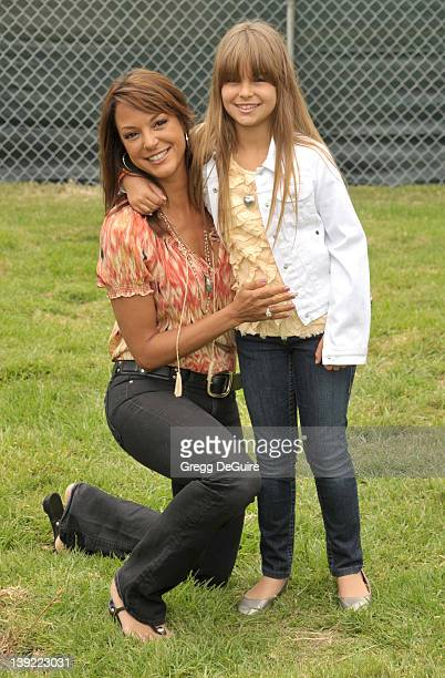 Eva La Rue and daughter Kaya McKenna Callahan arrive at the 22nd Annual A Time for Heroes Celebrity Carnival at the Wadsworth Theater on June 12 2011...