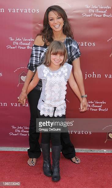 Eva La Rue and daughter Kaya McKenna Callahan arrive at The John Varvatos 8th Annual Stuart House Benefit at the John Varvatos Boutique on March 13...