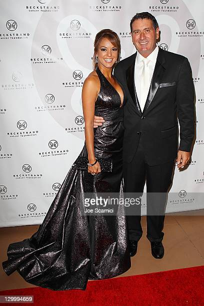Eva La Rue and husband arrive at Beckstrand Cancer Foundation's 8th Annual Diamond Pearl Ball at The Balboa Bay Club And Resort on October 22 2011 in...