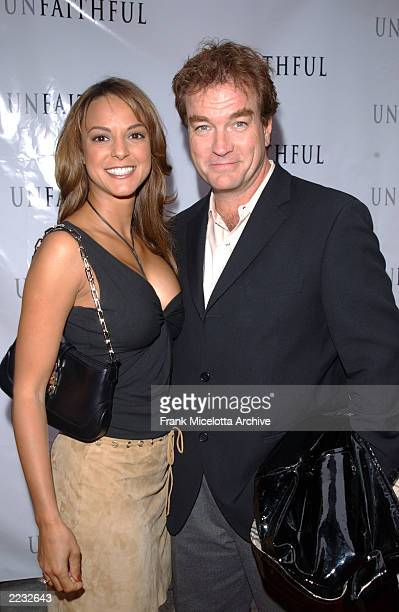Eva La Rue and husband John Callahan during the arrivals for a special screening of Unfaithful at the Ziegfeld Theater in New York City May 6 2002...