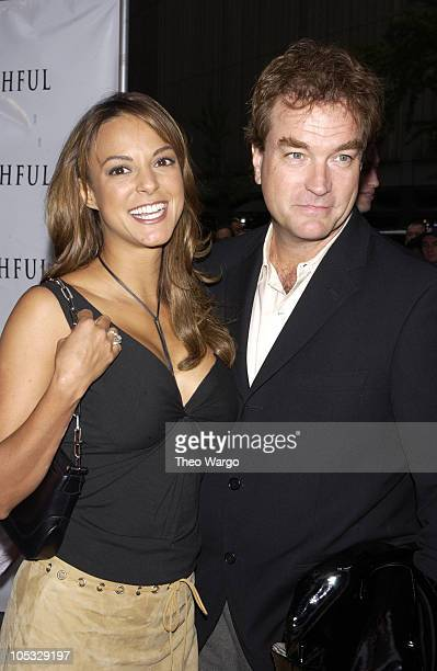 "Eva La Rue and husband John Callahan during ""Unfaithful"" New York Premiere at Ziegfeld Theatre in New York City, New York, United States."