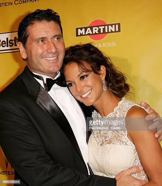 Eva La Rue and Joe Cappuccio arrive at the Weinstein Company after party for the 67th annual Golden Globes held at the Beverly HIlton.