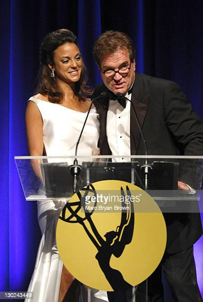 Eva La Rue and John Callahan during 31st Annual NATAS Daytime Emmy Craft Awards Show at Mariott Marquis in New York City New York United States