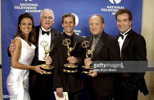 "Eva La Rue and John Callahan with Winners of Daytime Drama Technical Direction for ABC's ""All My Children"""