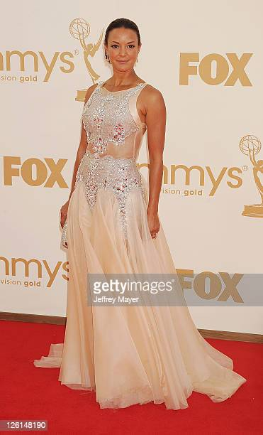Eva La Rue arrives at the 63rd Primetime Emmy Awards at the Nokia Theatre LA Live on September 18 2011 in Los Angeles California
