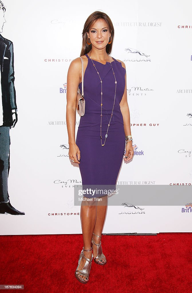 Eva La Rue arrives at the 7th Annual Britweek: BritWeek Design Icon Award presentation held at Christopher Guy West Hollywood Showroom on April 26, 2013 in West Hollywood, California.