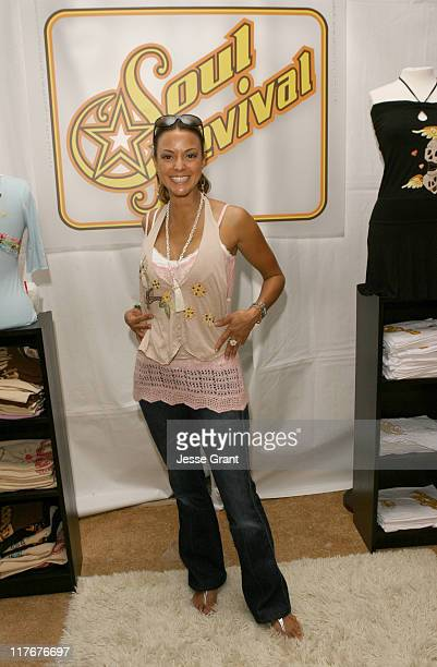 Eva La Rue at Soul Revival during Silver Spoon Golden Globes Hollywood Buffet Day 2 at Private Residence in Beverly Hills California United States...