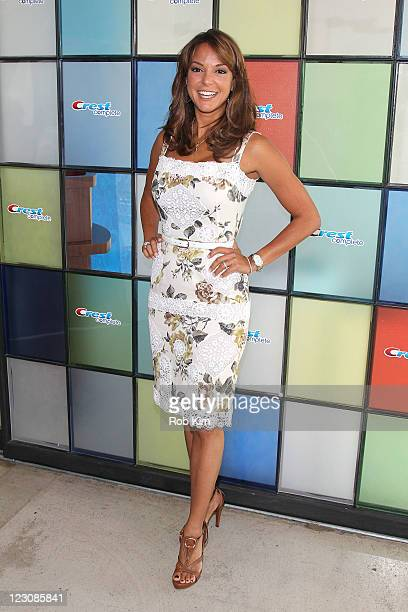 Eva La Rue attends the PG Oral Care launch at 404 10th Avenue on August 30 2011 in New York City