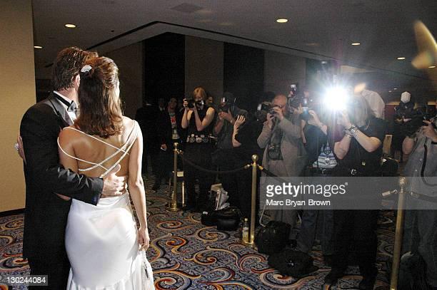 Eva La Rue Callahan and John Callahan during 31st Annual NATAS Daytime Emmy Craft Awards Show at Mariott Marquis in New York City New York United...
