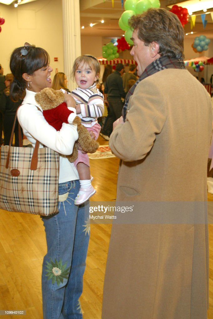 Eva La Rue, Daughter and Husband John Callahan during Second Annual Children's Day Artrageous at Metropolitan Pavillion in New York City, New York, United States.