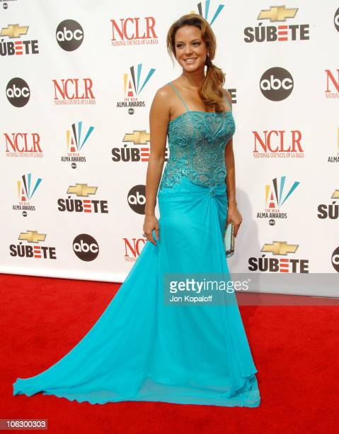 Eva La Rue during 2007 NCLR ALMA Awards Arrivals at Pasadena Civic Center in Pasadena California United States
