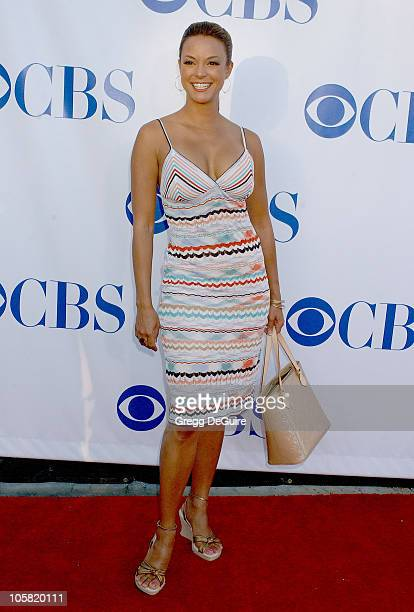 Eva La Rue during CBS Summer 2006 TCA Press Tour Party Arrivals at Rose Bowl in Pasadena California United States