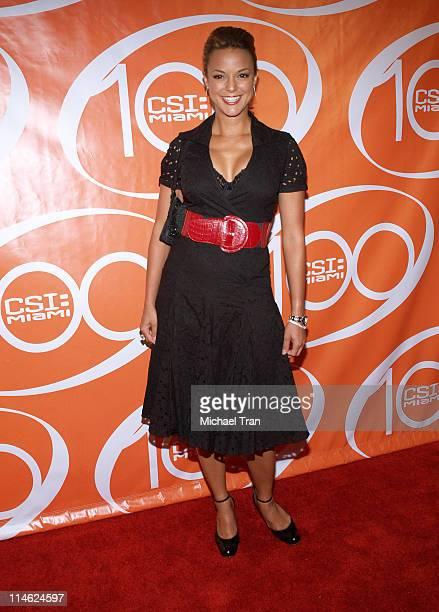 Eva La Rue during CSI Miami 100th Episode Party Arrivals at Malibu Beach in Malibu California United States