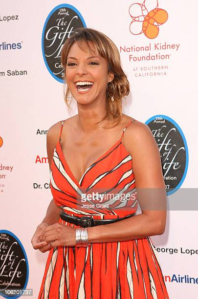 Eva La Rue during George Lopez Hosts National Kidney Foundation Gala Red Carpet in Los Angeles California United States