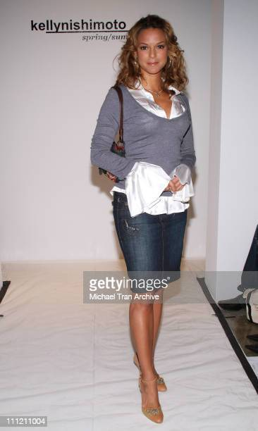 Eva La Rue during MercedesBenz Spring 2007 LA Fashion Week at Smashbox Studios Kelly Nishimoto Front Row and Backstage at Smashbox in Culver City CA...