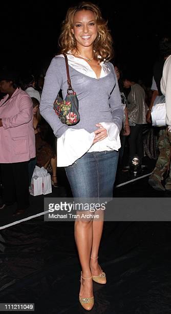 Eva La Rue during MercedesBenz Spring 2007 LA Fashion Week at Smashbox Studios Kevan Hall Front Row and Backstage at Smashbox in Culver City CA...