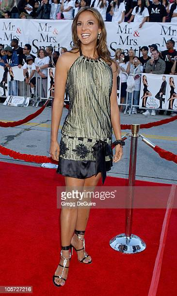 Eva La Rue during Mr And Mrs Smith Los Angeles Premiere Arrivals in Los Angeles California United States