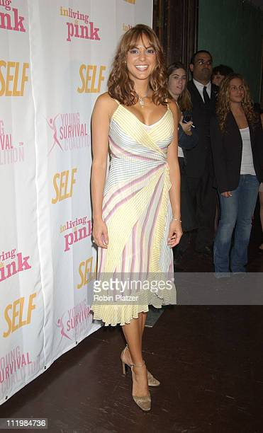 Eva La Rue in BCBG Dress during Self Magazines Young Survival Coalition Benefit at Angel Orensanz Foundation in New York City, New York, United...