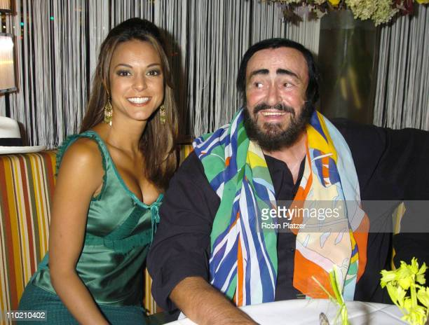Eva La Rue of 'All My Children' and Luciano Pavarotti